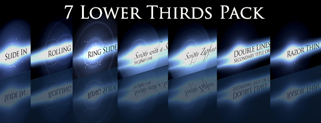 7 lower thirds after effects download