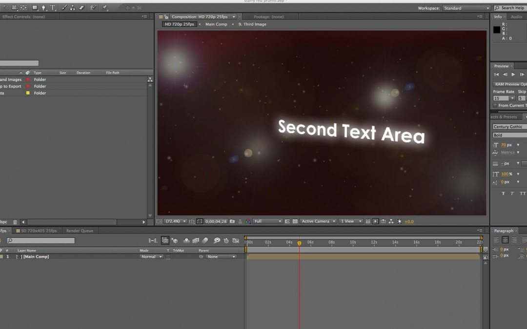 Video Editing After Effects – Starry Red Promotion Template