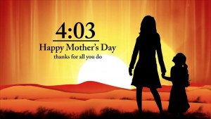 Mothers Day Silhouette Countdown
