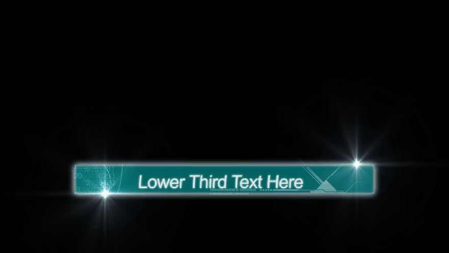 futuristic lower third