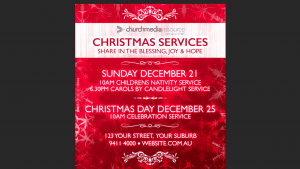 Red Christmas Flyer Download