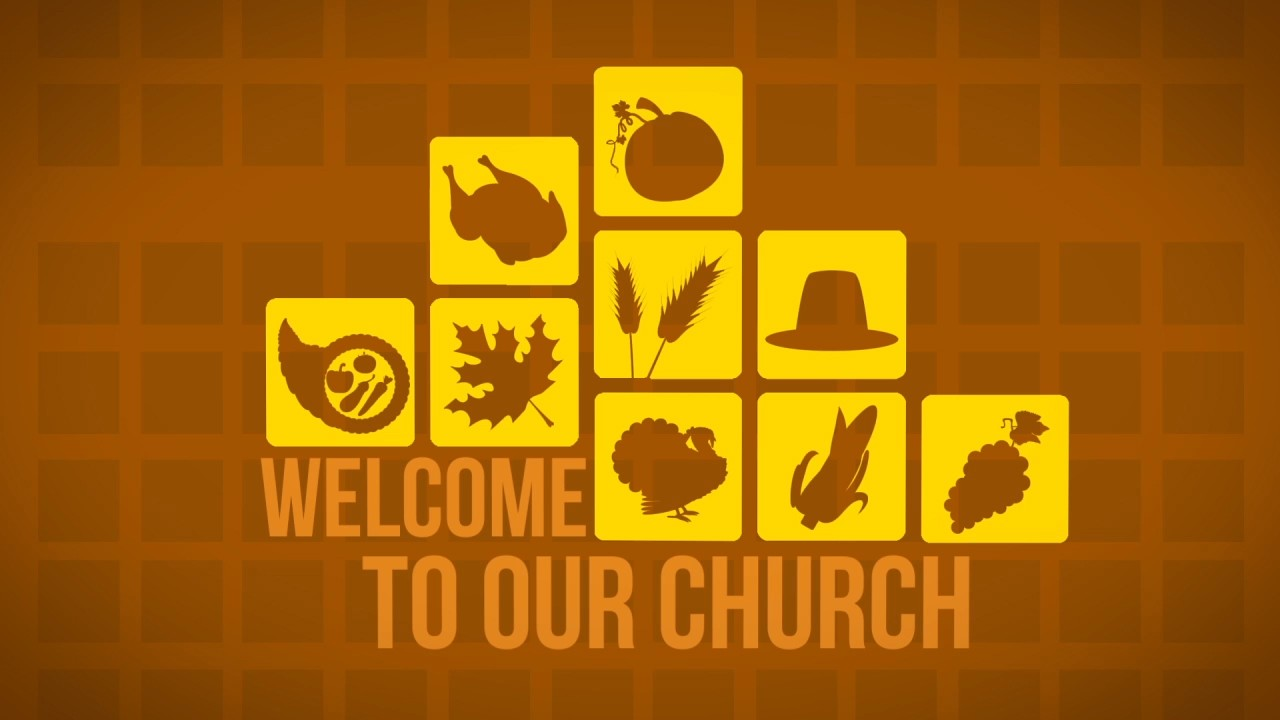 thanksgiving icons welcome