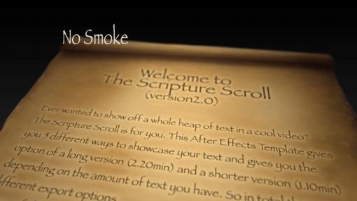 Scripture Scroll No Smoke