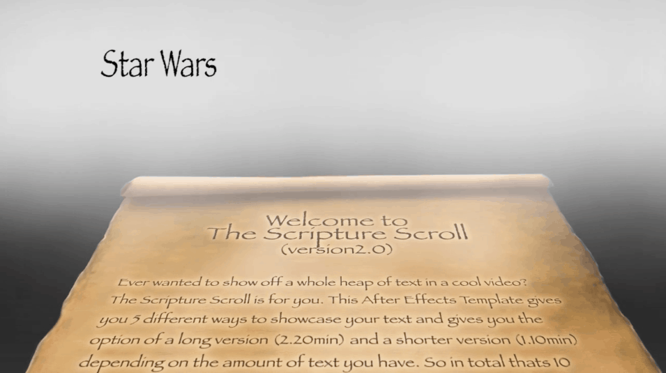 Scripture Scroll Star Wars Version