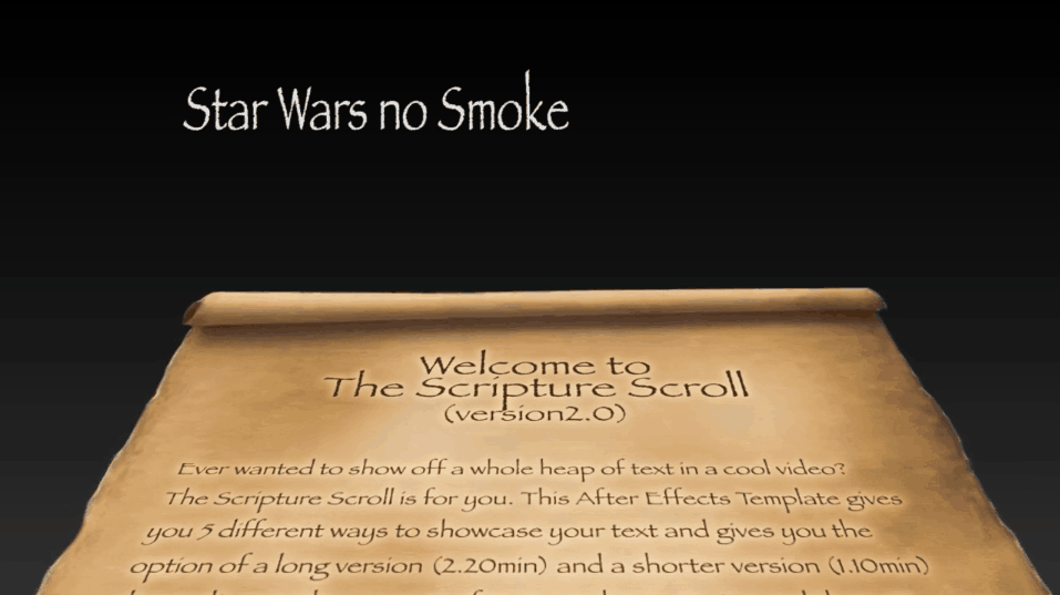 Scripture Scroll Star Wars No Smoke
