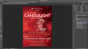 red snow christmas flyer